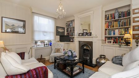A charming living area, with Victorian influence and a fresh, modern twist