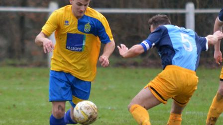 Harry Hunt for Harpenden Town. Picture: KEVIN LINES
