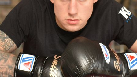 St Ives boxer Bradley Smith powered to his third successive win as a pro. Picture: HELEN DRAKE