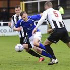 Harry Anderson scored the third as Saints win again. Picture: BOB WALKLEY
