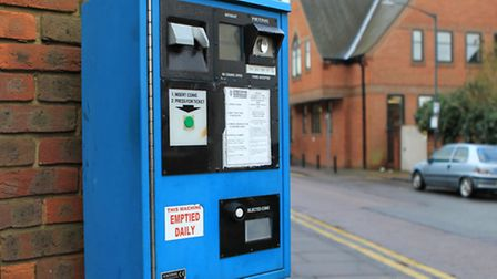 St Albans parking meter machine on the streets
