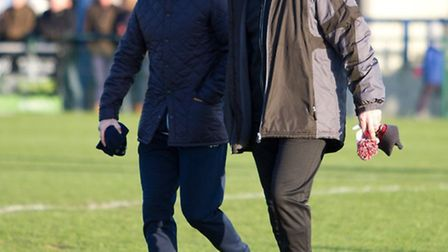 St Neots Town director of football Iain Parr (right). Picture: CLAIRE HOWES