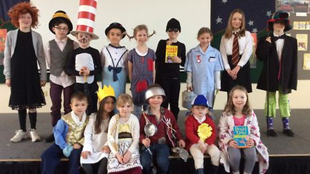 Children from St Mary's Catholic Primary School Royston dressed up for World Book Day.