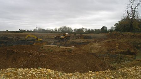 Tarmac is continuiing to quarry gravel in Panshanger Park