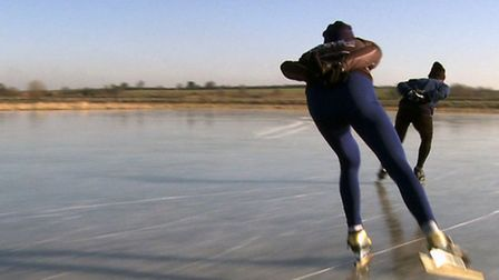 Chasing Ice: The Fen Skating Story, will be broadcast on Community Channel (Freeview, Channel 6) thi