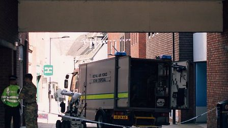 The bomb disposal unit were called to attend by police. Picture: Christopher Gray