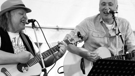 Royston acoustic duo, Chris Walls and Richard Norris, who go under the name of Pass The Buch, are ba