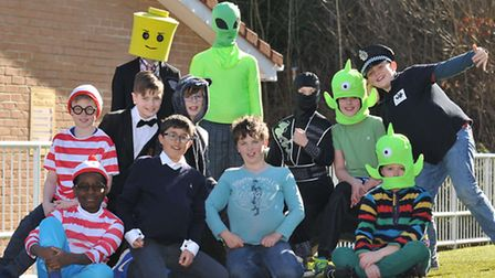 Year 5 and 6 pupils at Garden Fields JMI School dress up for World Book day