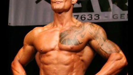 St Albans personal trainer Adrian Woolmer, who has competed in body building competitions despite su