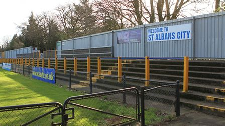 The stand in Clarence Park which St Albans City FC would like to expand