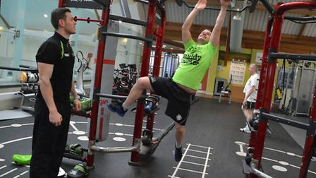 Herts Ad editor Matt Adams is put through his paces by personal trainer Dennis Conroy