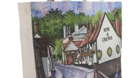St Albans shopping bag: Rose and Crown