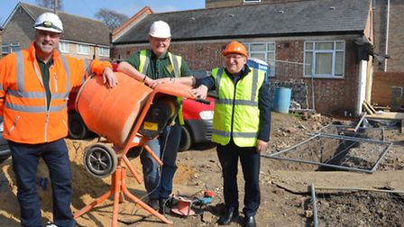 Funds needed to build St Neots Scout Hut, (l-r) Chairman of 1st St Neots Scout Group John Routledge,