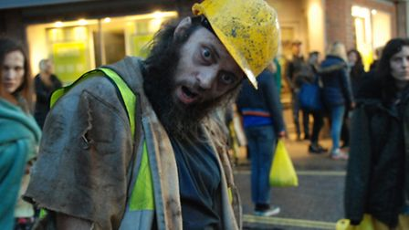 Zombies being filmed in St Albans for eBay ad