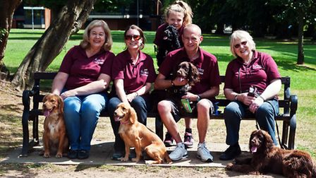 Diana Bell, Harpenden, far right, with other volunteers for Hearing Dogs for Deaf People