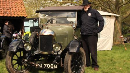 A 1925 Bullnose Morris pictured with its owner, Tom Doig. PICTURE: Clive Porter.