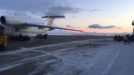 Ed Suttie's team prepare to fly out on the last stretch of their mission to the North Pole
