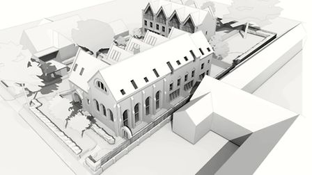 Former Museum of St Albans housing design perspective, courtesy of Kirby Cove Architects