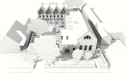 Former Museum of St Albans site housing design perspective, courtesy of Kirby Cove Architects