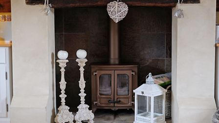 The fireplace in Tom Smith's living room
