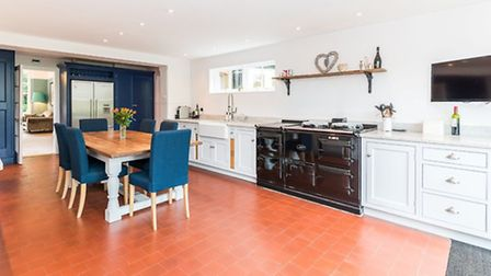The roomy kitchen, complete with stunning aga