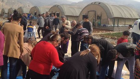 Thousands of donations have been received by refugees and people displaced in the Middle East