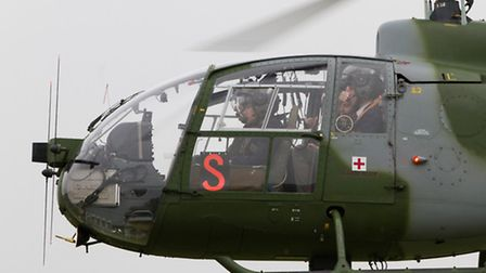 Helicopter visit