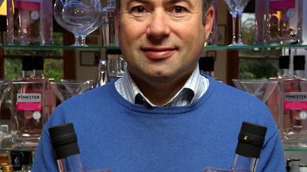 Stephen Marsh with his Pinkster Gin