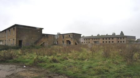 Many of the buildings at RAF Upwood have fallen into disrepair