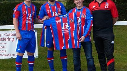 Alconbury boss Darrell Clark (right) is hoping to lead his team to Hunts Junior Cup success tonight.