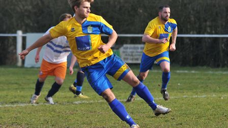 Harry Hunt scored one and Jimmy Hill the other as Harpenden Town beat Crawley Green. Picture: DANNY