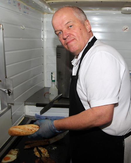 Keith Miller pictured with his van on the A505 near Royston, has been commended for his good quality