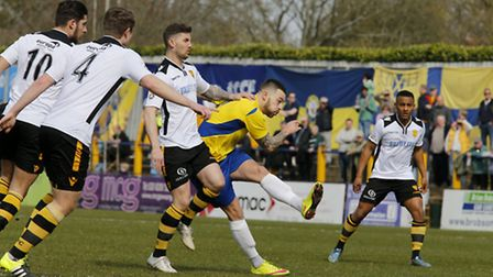 Louie Theophanous has a shot at goal. Picture: LEIGH PAGE