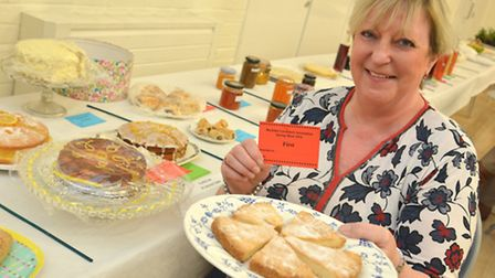 Buckden Show, Alison Hudson, with her 1st prize shortbread,