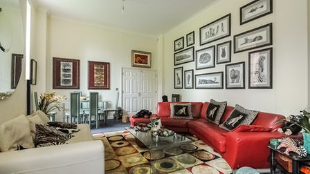 The living room of the home of the week