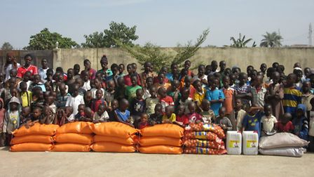 Khaled Hassan visited The Gambia: Delivery of rice, onions, sugar, cooking oil, books and stationery