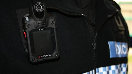 One of the new body cameras that will be worn by police.