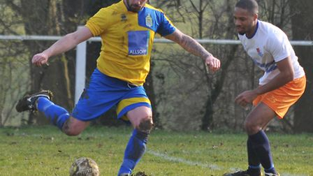 Jimmy Hill grabbed two goals and an assist as Harpenden beat Wodson Park. Picture: DANNY LOO