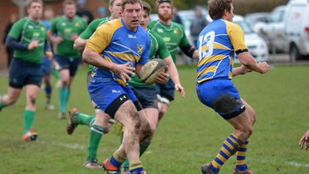 Joe Shaw scored twice for St Albans against Datchworth. Picture: KEVIN LINES
