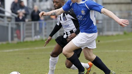 Harry Anderson tries to find a way through the Maidenhead defence. Picture: LEIGH PAGE