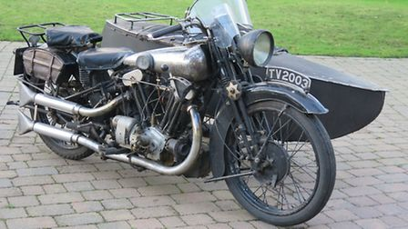 The 1930 Brough Superior SS100 will be auctioned off on Tuesday.