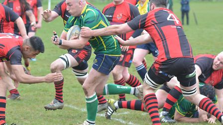 Action from Huntingdon's home defeat at the hands of Newbold on Avon. Picture: HELEN DRAKE