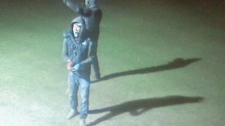 CCTV images of people police would like to speak to in connection with incidents of criminal damage