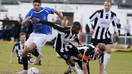 Michael Thalassitis leaves the Maidenhead defence all at sea. Picture: LEIGH PAGE