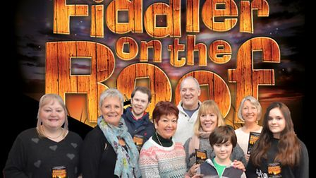 Ruth Madoc with St Albans Musical Theatre Company cast members