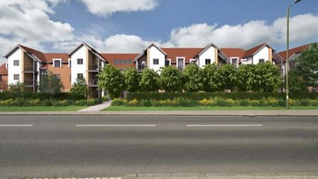 An artist's impression of the new McCarthy and Stone development in St Albans - image subject to cha