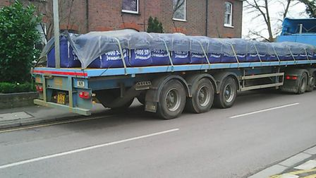 Lorries for Jewson causing traffic problems in Southdown