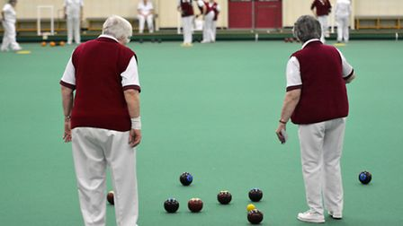 Action from Harpenden Bowls Club