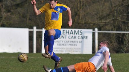 Jimmy Warner scored Harpenden's first against Crawley Green. Picture: DANNY LOO