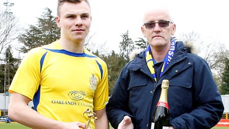 On-loan Peterborough United winger Harry Anderson picked up March's award. Picture: LEIGH PAGE
